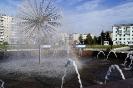 Радуга в фонтане на Преображенской площади (Серов)