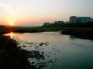 Река Турья на закате с видом на город